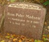 Hans Peter Madsen gravsten