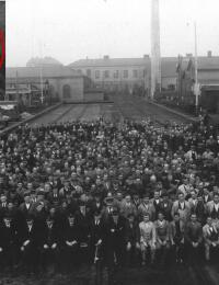 Personalet på Centralværkstedet i Århus, april 1926