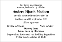 Dødsannonce fra afdoede.dk