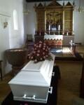 Mathildes båre i Sevel Kirke