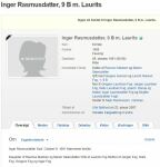 Inger Rasmusdatters død, udklip fra geni.com