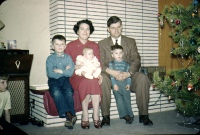 Lund Family 1957 in Red Deer at the Bill's